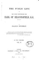 The public life of the     earl of Beaconsfield PDF