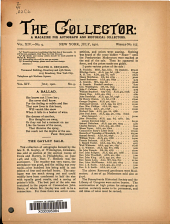 The Collector: A Monthly Magazine for Autograph and Historical Collectors, Volume 14, Issue 9