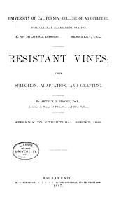 Pamphlets on Viticulture