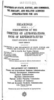 Departments of State  Justice  and Commerce  the Judiciary  and Related Agencies Appropriations for 1976 PDF