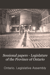 Sessional Papers - Legislature of the Province of Ontario: Volume 2