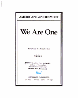 American Government  Annotated teacher s ed Book