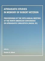 Afroasiatic Studies in Memory of Robert Hetzron