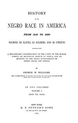 History of the Negro Race in America from 1619 to 1880 PDF
