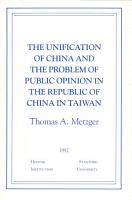 The Unification of China and the Problem of Public Opinion in the Republic of China in Taiwan PDF