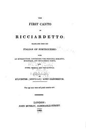 The First Canto of Ricciardetto