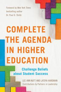 Complete the Agenda in Higher Education Book