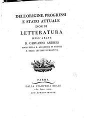 Dell'origine, progressi e stato attuale d'ogni letteratura: Della giurisprudenza canonica, Della storia ecclesiastica. Indice generale. [t. 8] #