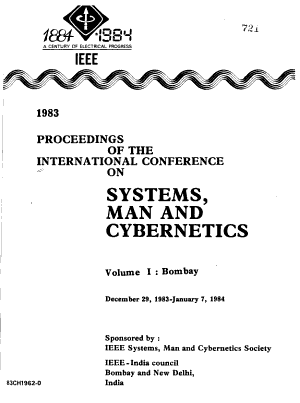 1983 Proceedings of the International Conference on Systems  Man and Cybernetics  December 29  1983 January 7  1984  Bombay and New Delhi  India PDF