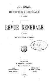 Revue générale: Volume15