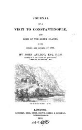 Journal of a visit to Constantinople, and some of the Greek islands