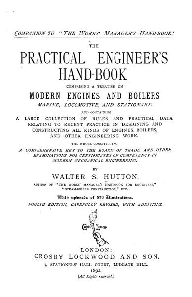 The Practical Engineer s Hand book PDF