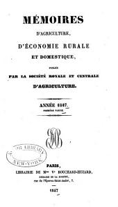 Memoires d'agriculture: Partie1