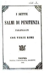 I sette salmi di penitenza parafrasati con terze rime [Carlo Adami]