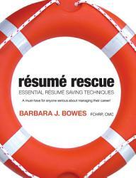 R Sum Rescue Essential Resume Saving Techniques Book PDF