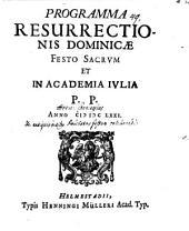 Programma resurrectionis Dominicae festo sacrum