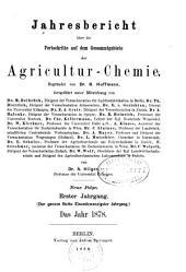 Jahresbericht fur Agrikultur-Chemie: Band 21