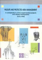 Wildlife and Protected Area Management PDF
