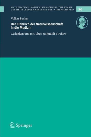 Der Einbruch der Naturwissenschaft in die Medizin PDF