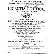 Diss. poetico-¬mor. de licentia poetica