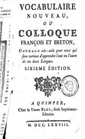 Vocabulaire nouveau, ou colloque françois et breton