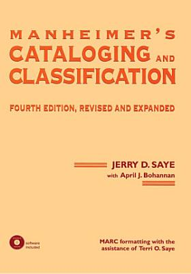 Manheimer s Cataloging and Classification  Revised and Expanded PDF