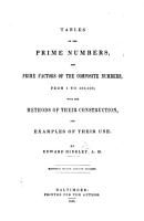 Tables of the prime numbers and prime factors of the composite numbers from 1 to 100 000  With the methods of their construction and examples of their use PDF