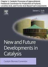 New and Future Developments in Catalysis: Chapter 5. Catalytic Processes of Lignocellulosic Feedstock Conversion for Production of Furfural, Levulinic Acid, and Formic Acid-Based Fuel Components
