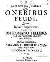 Exercitatio iur. de oneribus feudi
