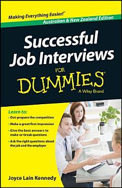 Successful Job Interviews For Dummies   Australia   NZ PDF