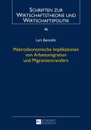 Makrokonomische Implikationen Von Arbeitsmigration Und Migrantentransfers PDF