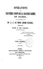 Opérations du neuvième corps de la grande armée en Silésie, sous le commandement en chef de S.A.I. le prince Jérôme Napoléon, 1806-1807
