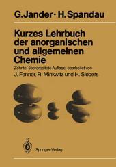 Kurzes Lehrbuch der anorganischen und allgemeinen Chemie: Ausgabe 10