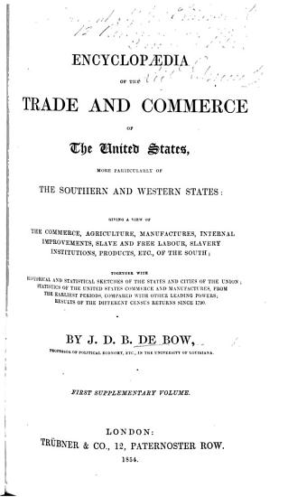 Encyclop  dia of the Trade and Commerce of the United States     First supplementary volume PDF