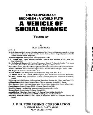 Encyclopaedia of Buddhism  A World Faith  Buddhas   A Vehicle of Social Change V  15 PDF