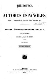 Poetas líricos de los siglos XVI y XVII: Volumen 42