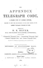 The Appendix telegraph code, a blank code of German ciphers