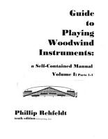 Guide to Playing Woodwind Instruments PDF
