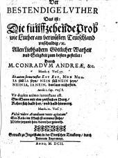 Der bestendige Luther: 15. Probe