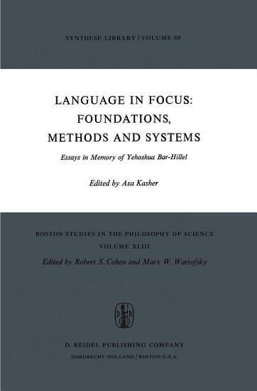 Language in Focus  Foundations  Methods and Systems PDF