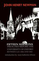 Fifteen Sermons Preached before the University of Oxford Between A D  1826 and 1843 PDF