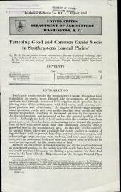 Fattening good and common grade steers in southeastern Coastal Plains: Volumes 901-925