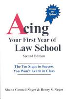 Acing Your First Year of Law School PDF