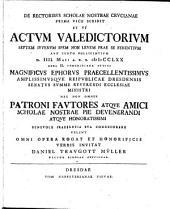 De rectoribus scholae Crucianae: Volume 1