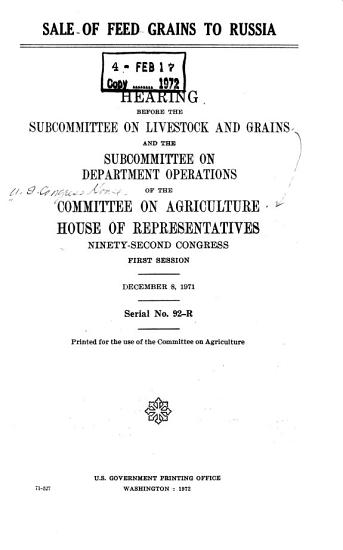 Sale of Feed Grains to Russia PDF