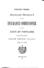 Annual Report of the Insurance Commissioner