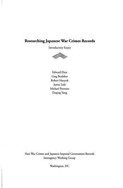 Download Researching Japanese War Crimes Records Book