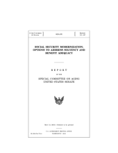 Social Security Modernization  Options to Address Solvency and Benefit Adequacy PDF