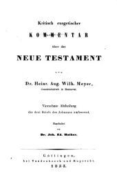 Kritisch exegetischer Kommentar uber das Neue Testament: Band 14