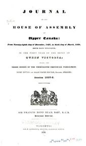 Journal of the House of Assembly of Upper Canada ...